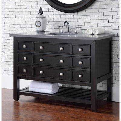Kramer 48 Single Rectangle Cerused Espresso Oak Bathroom Vanity Set