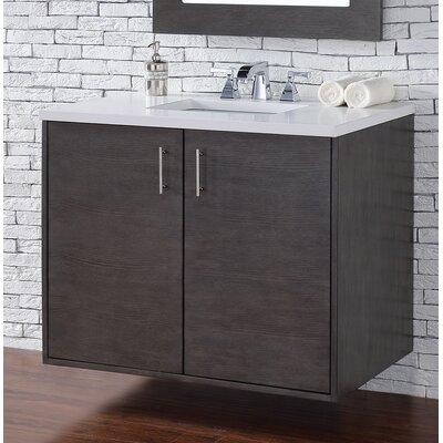 Metropolitan 36 Single Bathroom Vanity Base Base Finish: Silver Oak