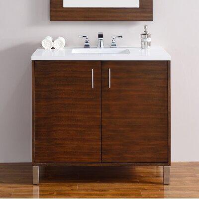 Metropolitan 36 Single Bathroom Vanity Base Base Finish: American Walnut