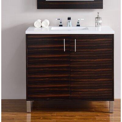 Metropolitan 36 Single Bathroom Vanity Base Base Finish: Macassar Ebony