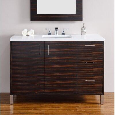Metropolitan 48 Single Bathroom Vanity Base Base Finish: Macassar Ebony