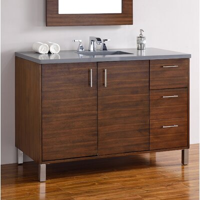 Metropolitan 48 Single Bathroom Vanity Base Base Finish: American Walnut