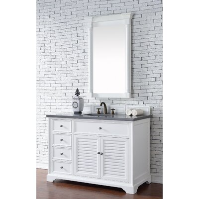 Belfield 48 Single Ceramic Sink Cottage White Bathroom Vanity Set Top Thickness: 4cm