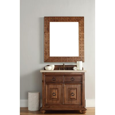 Mykonos 36 Single Cinnamon Single Bathroom Vanity Set Top Finish: Santa Cecilia Granite Top