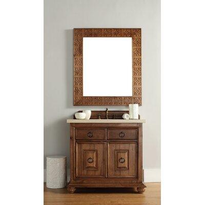 Mykonos 36 Single Cinnamon Single Bathroom Vanity Set Top Finish: Carrera White Marble Top