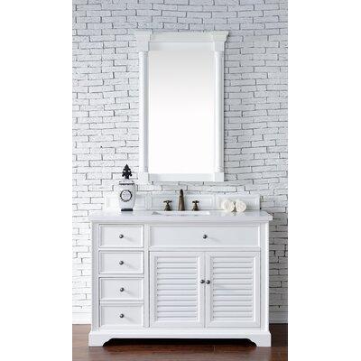 Savannah 48 Single Cottage White Bathroom Vanity Set Top Thickness: 2cm