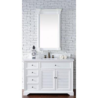 Belfield 48 Single Undermount Sink Cottage White Bathroom Vanity Set Top Thickness: 4cm