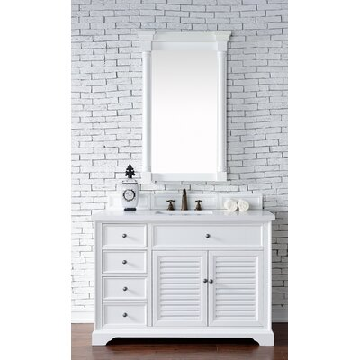 Belfield 48 Single Cottage White Wood Base Bathroom Vanity Set Top Thickness: 2cm