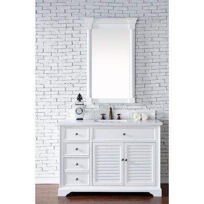 Belfield 48 Single Cottage White Wood Base Bathroom Vanity Set Top Thickness: 4cm
