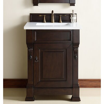 Brookfield 26 Single Bathroom Vanity Base Base Finish: Burnished Mahogany