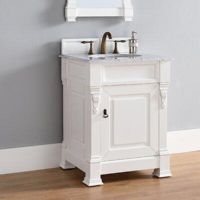 Brookfield 26 Single Bathroom Vanity Base Base Finish: Cottage White