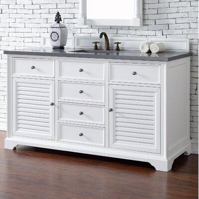 Belfield 60 Double Bathroom Vanity Base Base Finish: Cottage White