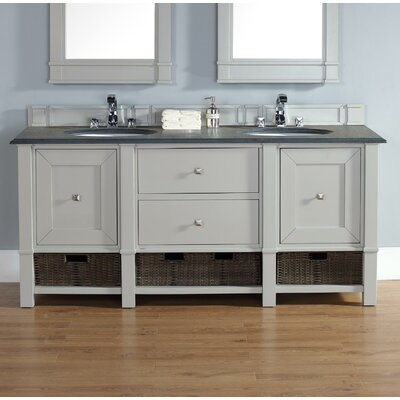Madison 72 Double Bathroom Vanity Base Base Finish: Dove Gray