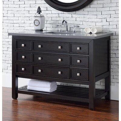 Kramer 48 Single Cerused Espresso Oak Wood Base Bathroom Vanity Set with Drawers
