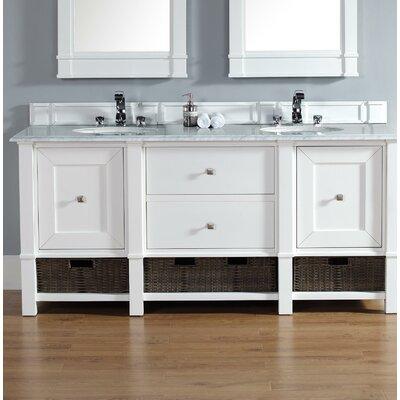 Madison 72 Double Bathroom Vanity Base Base Finish: Cottage White