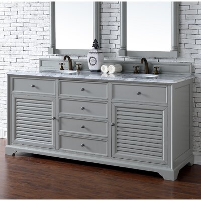 Savannah 72 Double Urban Gray Bathroom Vanity Set Top Thickness: 2cm