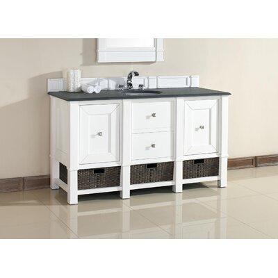 Westminster Traditional 60 Single Cottage White Bathroom Vanity Set