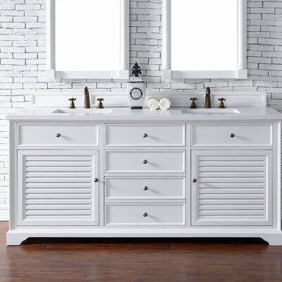 Belfield 72 Double Cottage White Bathroom Vanity Set