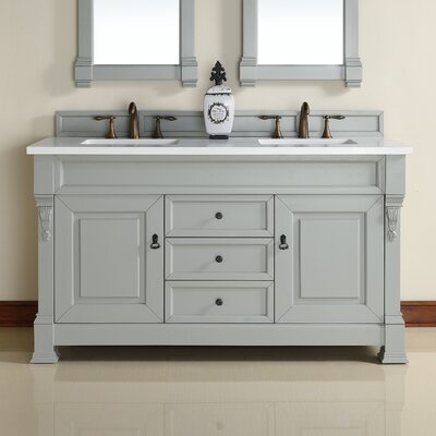 Brookfield 60 Double Urban Gray Bathroom Vanity Set