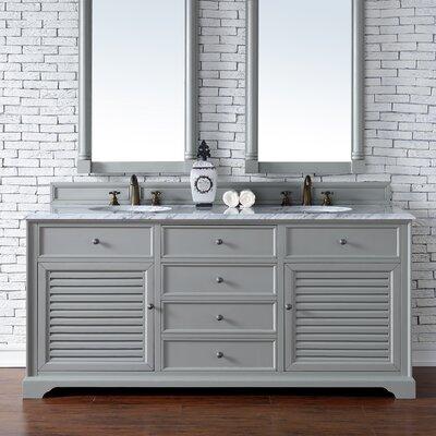 Savannah 72 Double Urban Gray Bathroom Vanity Set
