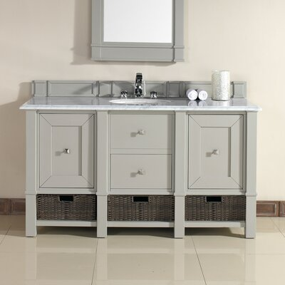 Madison 60 Single Dove Gray Bathroom Vanity Set