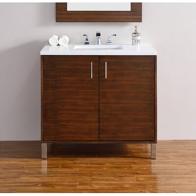 Metropolitan 36 Single American Walnut Bathroom Vanity Set