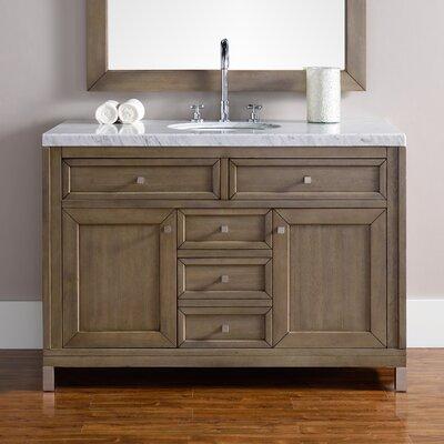 Chicago 48 Single White Washed Walnut Bathroom Vanity Set