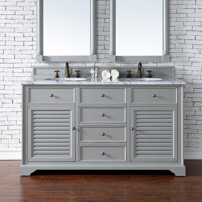 Savannah 60 Double Urban Gray Bathroom Vanity Set Top Thickness: 2cm