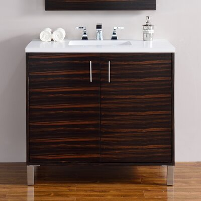 Metropolitan 36 Single Macassar Ebony Bathroom Vanity Set