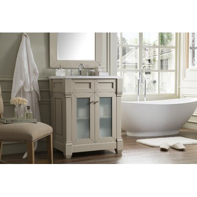 Laliberte 30 Single Wood Base Bathroom Vanity Set