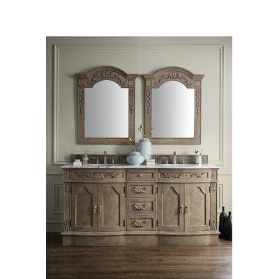 Blue Hills 72 Double Wood Bathroom Vanity Set