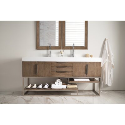 Hulett 72 Double Bathroom Vanity Set