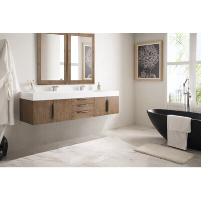Hukill 72 Double Bathroom Vanity Set