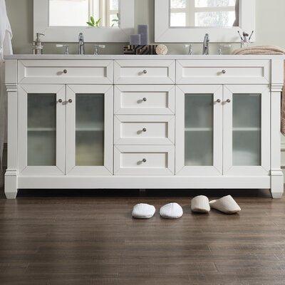 Laliberte 72 Double Wood Base Bathroom Vanity Set