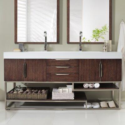 Hulett 72 Double Bathroom Vanity Set
