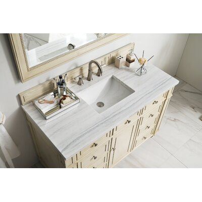 Torrey 48 Single Bathroom Vanity Set Base Finish: Vintage Vanilla, Top Finish: Carrara White Marble, Top Thickness: 4cm