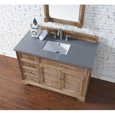 Belfield 48 Single Driftwood Bathroom Vanity Set Top Finish: Shadow Gray Quartz, Top Thickness: 3cm