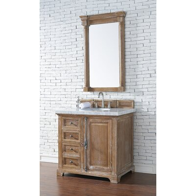 Belhaven 36 Single Driftwood Bathroom Vanity Set Top Finish: Arctic Fall Solid Surface, Top Thickness: 3cm