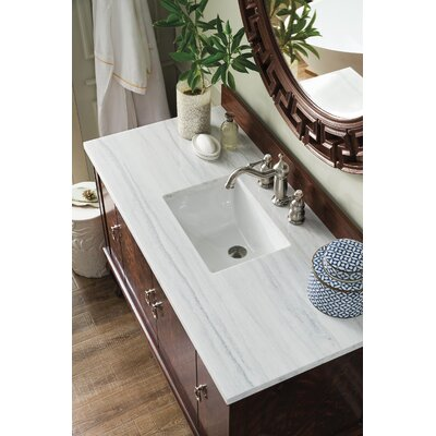 Dabria 48 Single Bathroom Vanity Set Top Finish: Arctic Fall Solid Surface, Top Thickness: 3cm