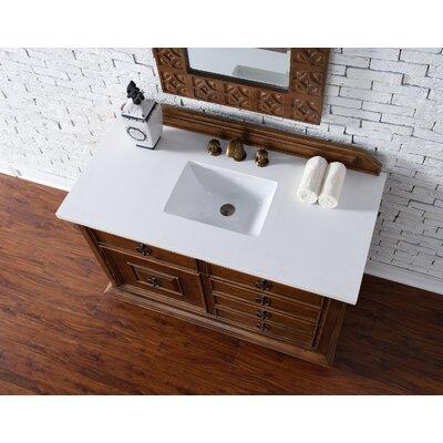 Frye Traditional 48 Single Cinnamon Bathroom Vanity Set Top Finish: Snow White Quartz
