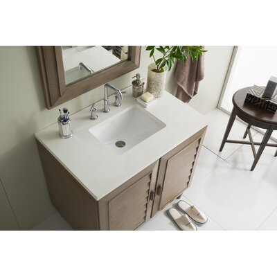 Musson 36 Single Bathroom Vanity Set Base Finish: White Washed Walnut, Top Finish: Snow White Quartz, Top Thickness: 3cm