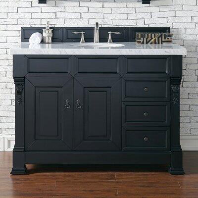 Brookfield 48 Single Bathroom Vanity Base Base Finish: Antique Black