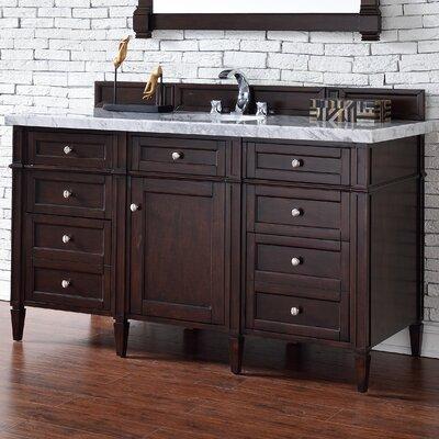 Deleon Traditional 60 Single Burnished Mahogany Bathroom Vanity Set Base Finish: Burnished Mahogany