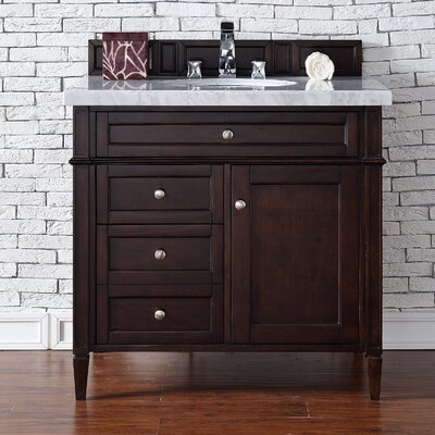 Deleon Traditional 36 Single Burnished Mahogany Bathroom Vanity Set Base Finish: Burnished Mahogany