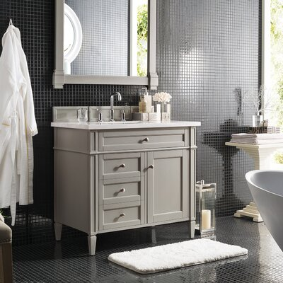 Deleon Traditional 36 Single Burnished Mahogany Bathroom Vanity Set Base Finish: Urban Gray