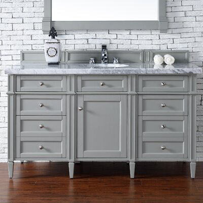 Deleon Traditional 60 Single Burnished Mahogany Bathroom Vanity Set Base Finish: Urban Gray