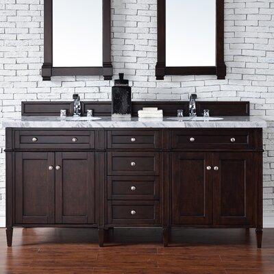Deleon 72 Double Burnished Mahogany Free-standing Bathroom Vanity Set Base Finish: Burnished Mahogany