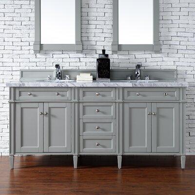 Deleon 72 Double Burnished Mahogany Free-standing Bathroom Vanity Set Base Finish: Urban Gray