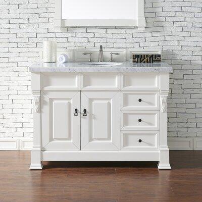 Brookfield 48 Single Bathroom Vanity Base Base Finish: Cottage White