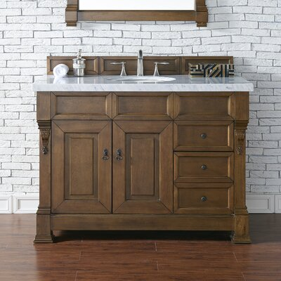 Brookfield 48 Single Bathroom Vanity Base Base Finish: Country Oak